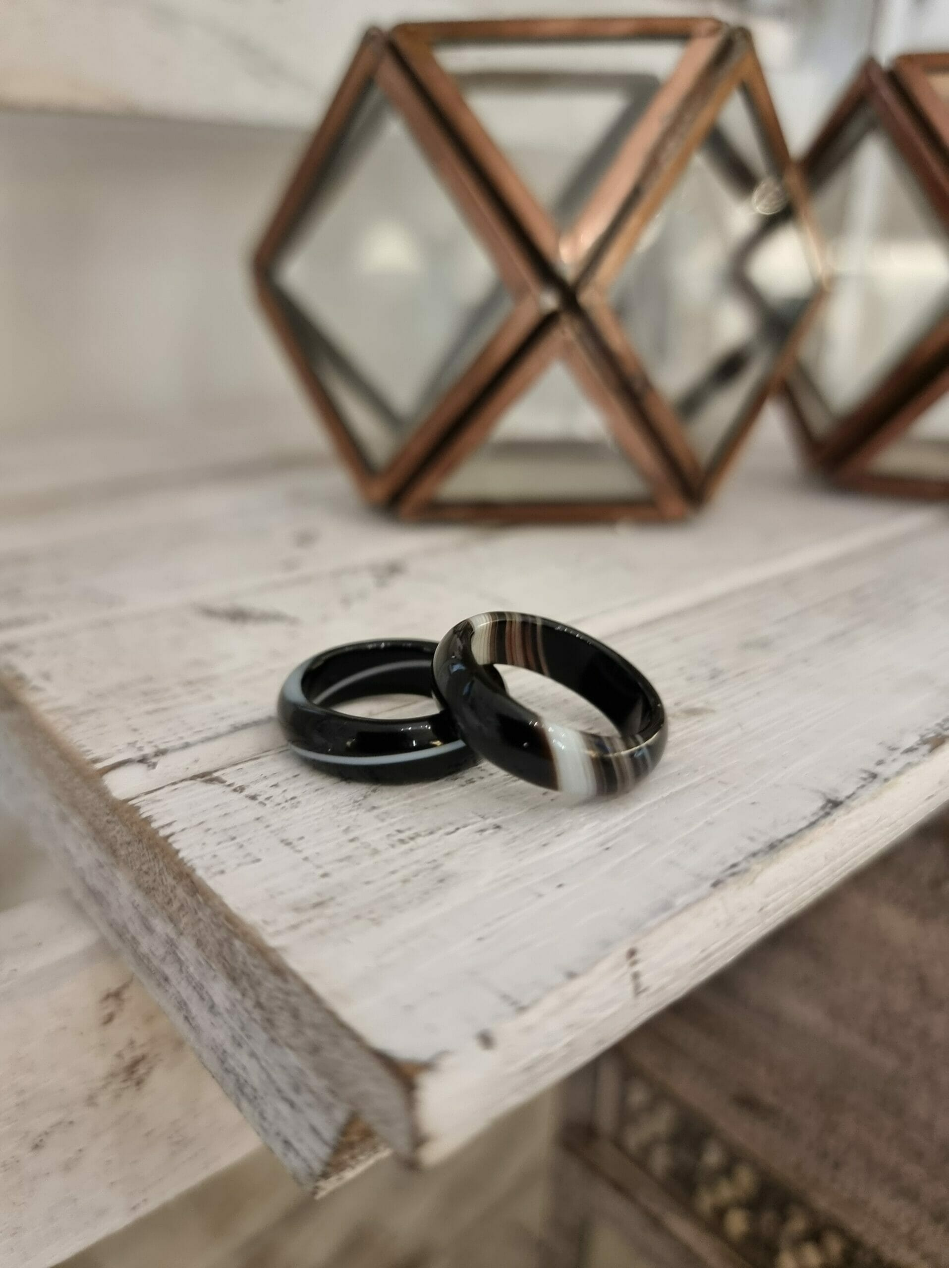 Banded Onyx Ring – Rounded