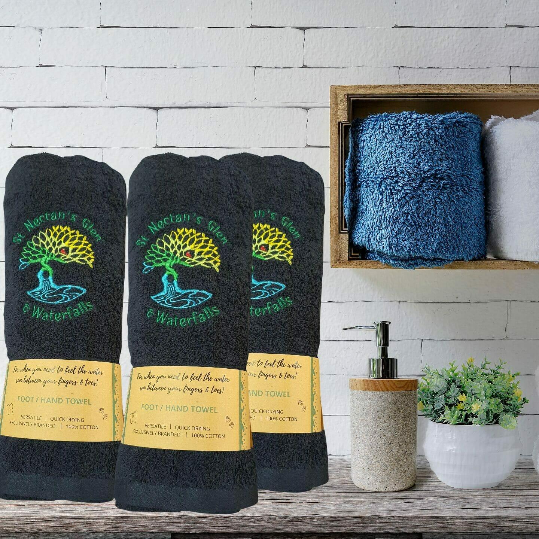Branded Hand Towel, Navy